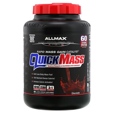 QuickMass, Rapid Mass Gain Catalyst, Chocolate, 6 lbs (2.72 kg)