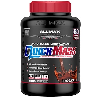 ALLMAX Nutrition, QuickMass, Rapid Mass Gain Catalyst, شوكولاتة, 6 رطل (2.72 كجم)