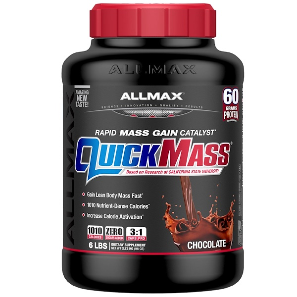 ALLMAX Nutrition, QuickMass  Rapid Mass Gain Catalyst, Chocolate, 6 lbs (2.72 kg)