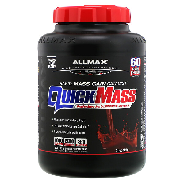 QuickMass, Rapid Mass Gain Catalyst, Chocolate, 6 lbs (2.72 kg)