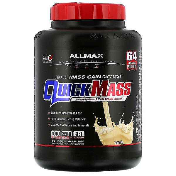 QuickMass, Weight Gainer, Rapid Mass Gain Catalyst, Vanilla, 6 lbs (2.72 kg)