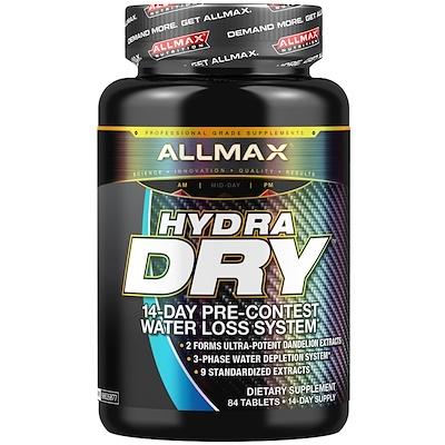 HydraDry, ультрамощное мочегонное + стабилизатор электролитов, 84 таблетки