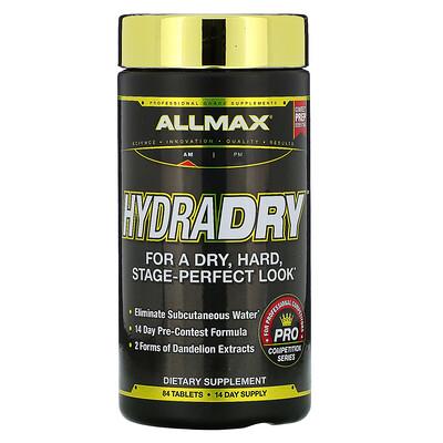 ALLMAX Nutrition HydraDry, ультрамощное мочегонное + стабилизатор электролитов, 84 таблетки