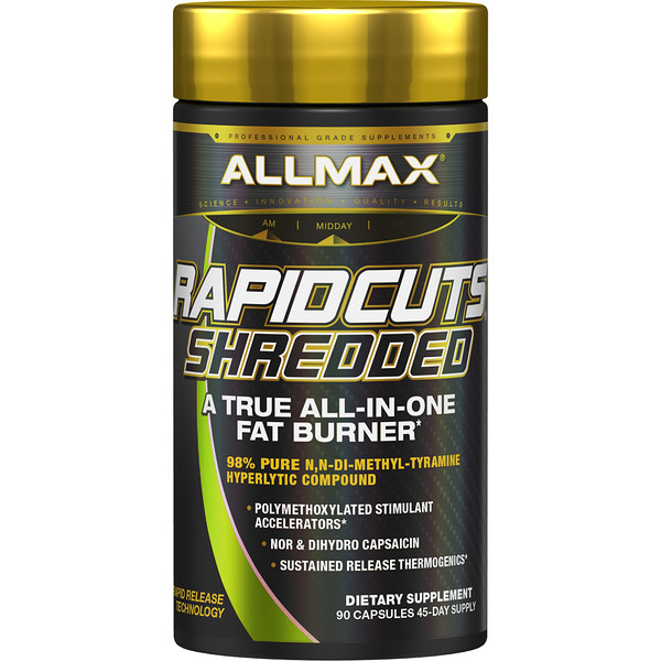 Rapidcuts Shredded, A True All-In-One Fat Burner, 90 Capsules