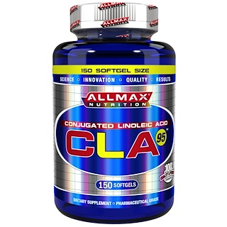 ALLMAX Nutrition, CLA 95, Highest-Purity CLA Yield (95%), 1,000 mg, 150 Softgels