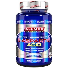 ALLMAX Nutrition, 100% Pure Pharmaceutical Grade, D-Aspartic Acid, 3.5 oz (100 g)