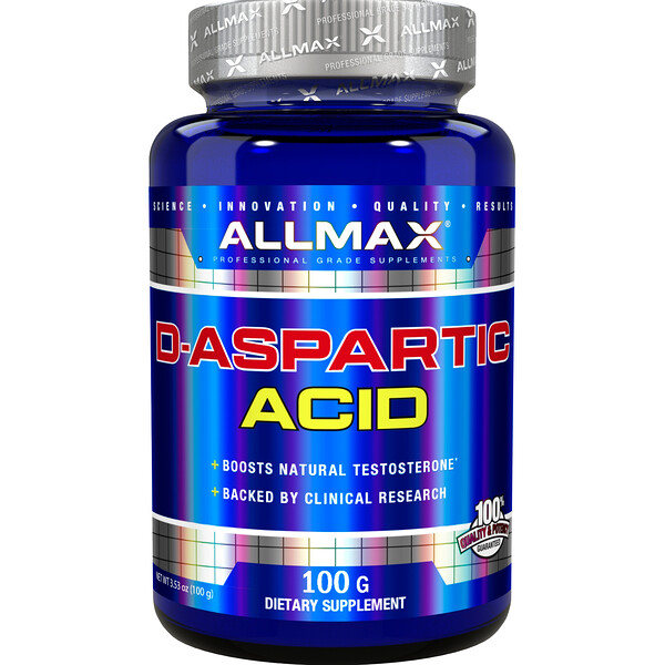 ALLMAX Nutrition, D-Aspartic Acid, 3.53 oz (100 g)