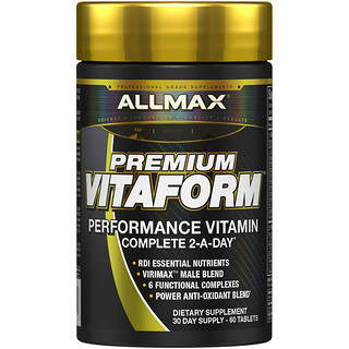 ALLMAX Nutrition, Vitaform, Premium MultiVitamin For Men, 60 Tablets