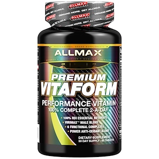 ALLMAX Nutrition, Premium Vitaform, Performance MultiVitamin, 30-Day Men's MultiVitamin, 60 Tablets