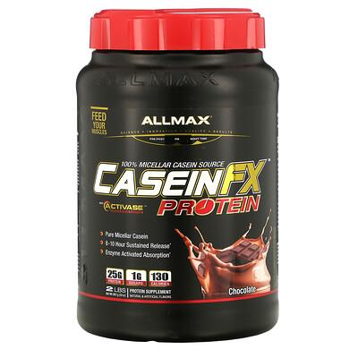 Купить ALLMAX Nutrition CaseinFX, 100%-ный казеиновый мицеллярный протеин, шоколад, 2 фунта (907 г)