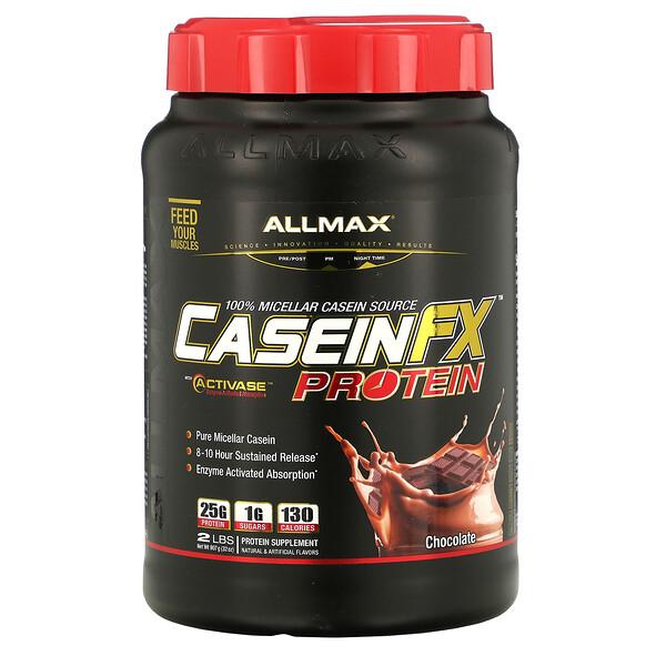 ALLMAX Nutrition, CaseinFX, 100 % protéines de caséine micellaire, chocolat, 907 g (2 lb)