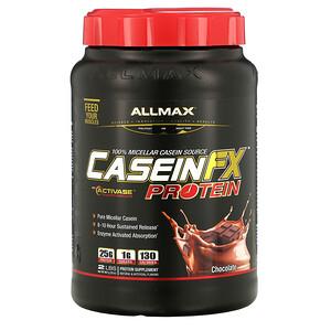Оллмакс Нутришн, CaseinFX, 100% Casein Micellar Protein, Chocolate, 2 lbs. (907 g) отзывы