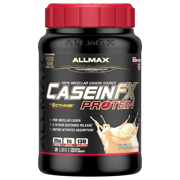 品牌從A - ZALLMAX Nutrition類別補充品蛋白膠束酪蛋白:ALLMAX Nutrition, CaseinFX,100%酪蛋白膠束蛋白,香草味,2 lbs、 (907 g)