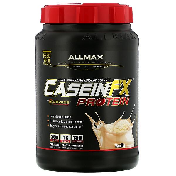 CaseinFX, protéine miscellaire 100 % de caséine, vanille, 907 g (2 lb)