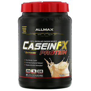 Оллмакс Нутришн, CaseinFX, 100% Casein Micellar Protein, Vanilla, 2 lbs. (907 g) отзывы покупателей