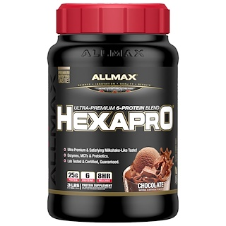 ALLMAX Nutrition, Hexapro, Ultra-Premium Protein + MCT & Coconut Oil, Chocolate, 3 lbs (1.36 kg)
