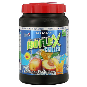 Оллмакс Нутришн, Isoflex Chiller, 100% Ultra-Pure Whey Protein Isolate (WPI Ion-Charged Particle Filtration), Citrus Peach Sensation, 2 lbs (907 g) отзывы