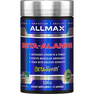 ALLMAX Nutrition, 100% reines Beta-Alanin maximale Wirkung + Aufnahme, 3200 mg, 3,5 oz (100 g)