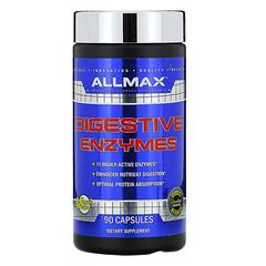 ALLMAX Nutrition, 消化酶 + 蛋白質優化配方,90 粒膠囊