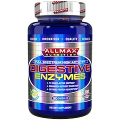 ALLMAX Nutrition, Digestive Enzymes + Protein Optimizer, 90 Capsules
