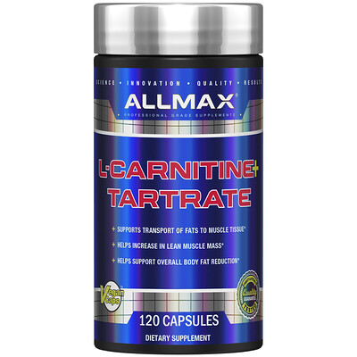 L-карнитин + тартрат, 120 капсул