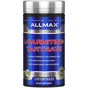 ALLMAX Nutrition, L-Carnitine + Tartrate, 120 Capsules