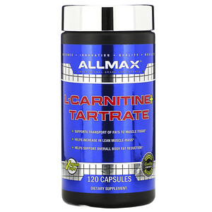 Оллмакс Нутришн, L-Carnitine + Tartrate, 120 Capsules отзывы покупателей