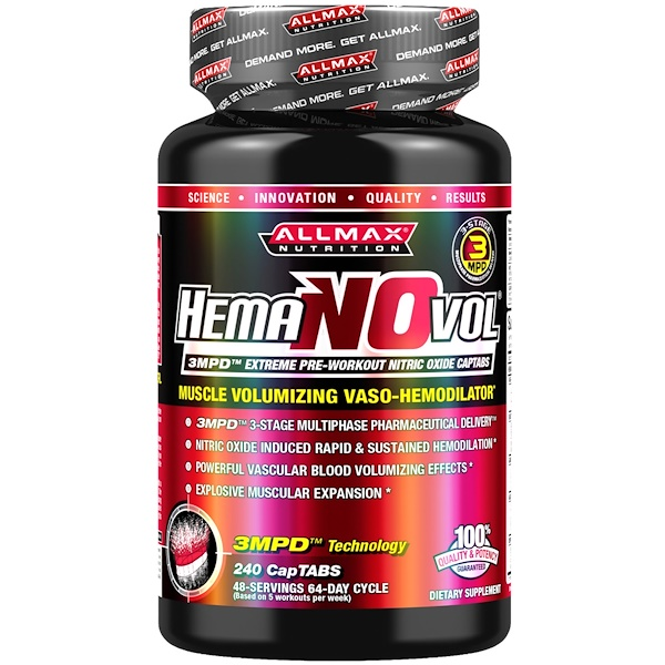ALLMAX Nutrition, Hemanovol, 240 CapTabs (Discontinued Item)