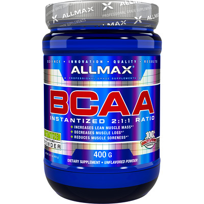 Купить BCAA, Instantized 2:1:1 Ratio, Unflavored Powder, 400 g