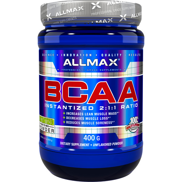 ALLMAX Nutrition, BCAA Instantized  2:1:1 Ratio, Unflavored Powder, 400 g
