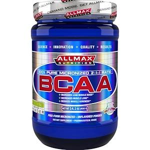 ALLMAX Nutrition, 100% чистые аминокислоты с разветвленной цепью, японский фармацевтический стандарт, без глютена, 80 порций, 400 г
