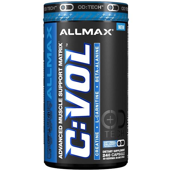 ALLMAX Nutrition, C:VOL, Professional-Grade Creatine + Taurine + L-Carnitine Complex, 240 Capsule (Discontinued Item)