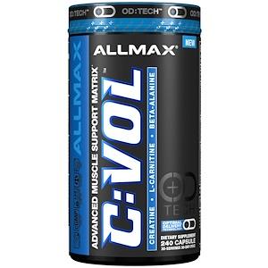 ALLMAX Nutrition, C:VOL, Комплекс из креатина профессионального уровня + таурина + L-карнитина, 240 капсул