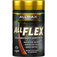 ALLMAX Nutrition, AllFlex, Collagen-Based Joint Relief, UC-II Collagen + Curcumin, 60 Capsules