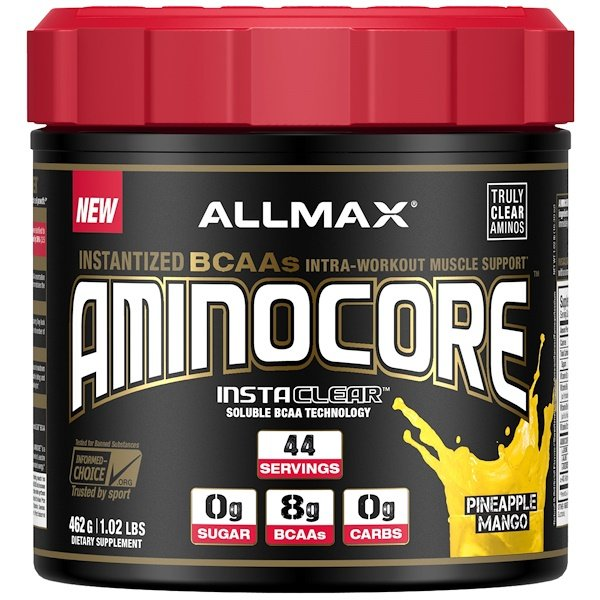 AMINOCORE, Instantized BCAAs Intra-Workout Muscle Support, Pineapple Mango, 1.02 lbs. (462 g)