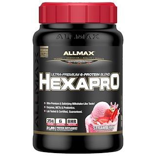 ALLMAX Nutrition, Hexapro, Ultra-Premium Protein + MCT & Coconut Oil, Strawberry, 3 lbs (1.36 g)