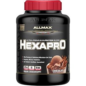 Оллмакс Нутришн, Hexapro, Ultra-Premium Protein + MCT & Coconut Oil, Chocolate, 5.5 lbs (2.5 kg) отзывы