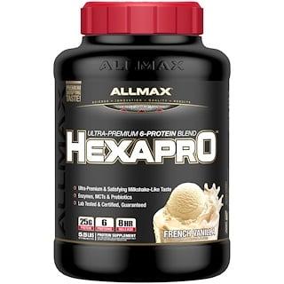 ALLMAX Nutrition, Hexapro, Ultra-Premium Protein + MCT & Coconut Oil, French Vanilla, 5.5 lbs (2.5 kg)