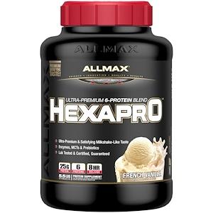 Оллмакс Нутришн, Hexapro, Ultra-Premium Protein + MCT & Coconut Oil, French Vanilla, 5.5 lbs (2.5 kg) отзывы