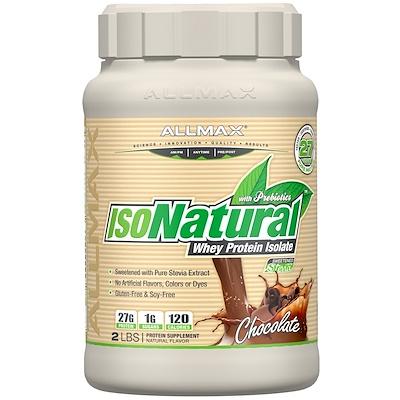 Купить IsoNatural, 100% ультра-чистый натуральный изолят сывороточного белка, шоколадный, 2 фунтов (907 г)