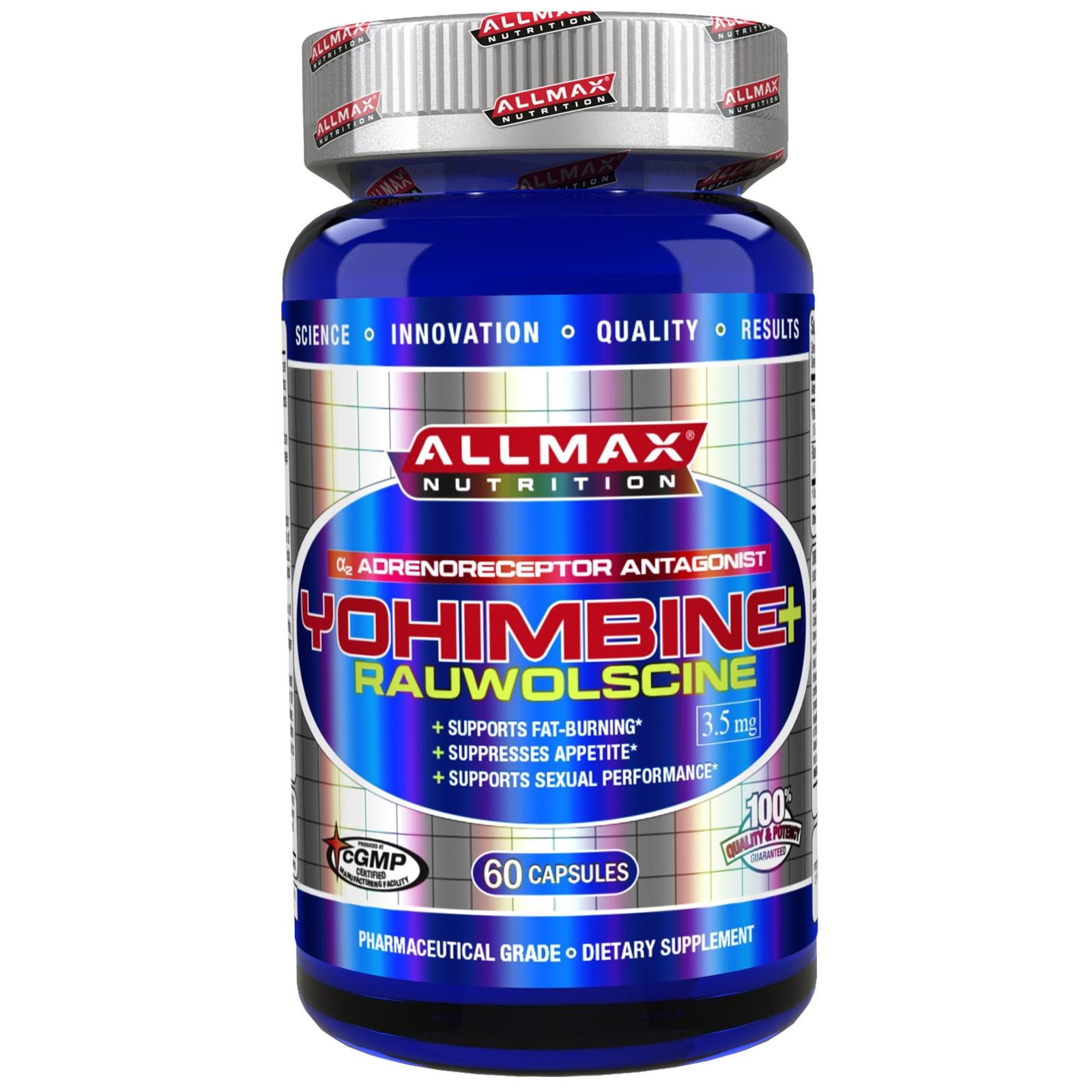 ALLMAX Nutrition, Yohimbine HCl (Max Strength Yohimbe), 3.5 mg, 60 Veggie Capsules