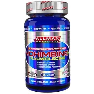 ALLMAX Nutrition, ヨヒンビンHCl +アルファ・ヨヒンビン(最大強度のヨヒンベ)、3.5mg、ベジカプセル60錠
