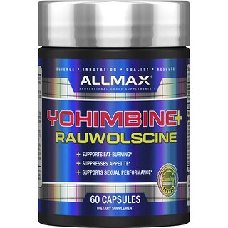 ALLMAX Nutrition, Yohimbine Hcl + Rauwolscine, 3.0 mg, 60 Capsules