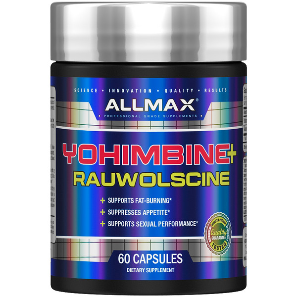 ALLMAX Nutrition, Yohimbine + Rauwolscine, 3.0 mg Yohimbine HCl, 60 Capsules