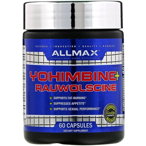 ALLMAX Nutrition, Yohimbine + Rauwolscine, 60 Capsules