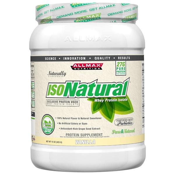 ALLMAX Nutrition, Isonatural Vanilla, 1 lb (Discontinued Item)