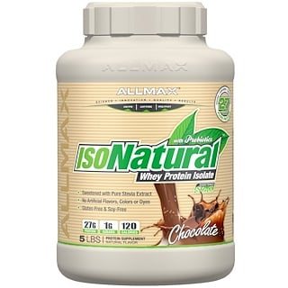 ALLMAX Nutrition, IsoNatural, Pure Whey Protein Isolate, Chocolate, 5 lbs