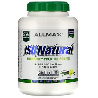 ALLMAX Nutrition, IsoNatural, 100% مصل البروتين المعزول فائق النقاء (WPI90), فانيلا, 5 باوند (2.27 كغ)
