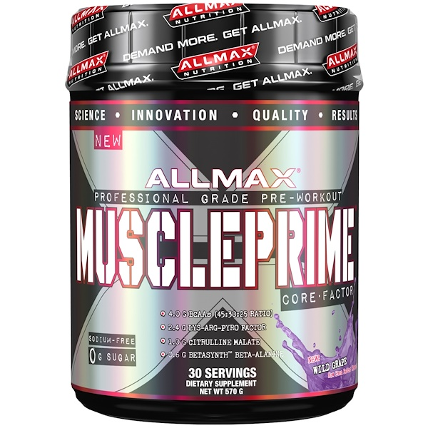 ALLMAX Nutrition, Muscleprime, Core Factor, Wild Grape, 20 oz (570 g) (Discontinued Item)