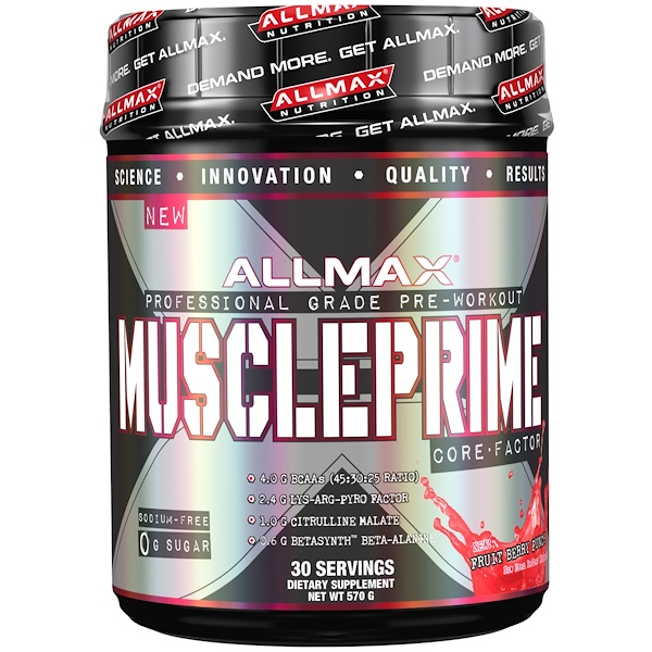 ALLMAX Nutrition, Muscleprime, Core Factor, Fruit Berry Punch, 20 oz (570 g) (Discontinued Item)